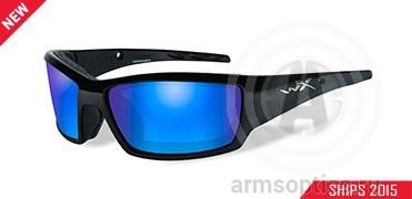 Очки Wiley X TIDE POL BLUE MIRROR (green) gloss black