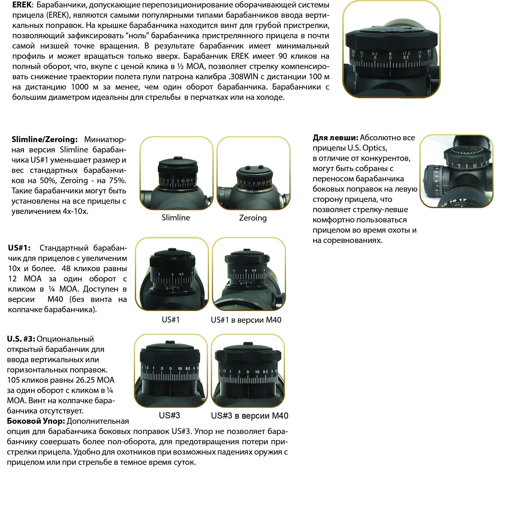 Барабанчики U.S. Optics